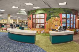 Library Interior - Children's Information Desk