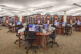 Library Interior - Public Computer Workstations