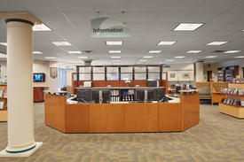 Library Interior - Adult Information Desk