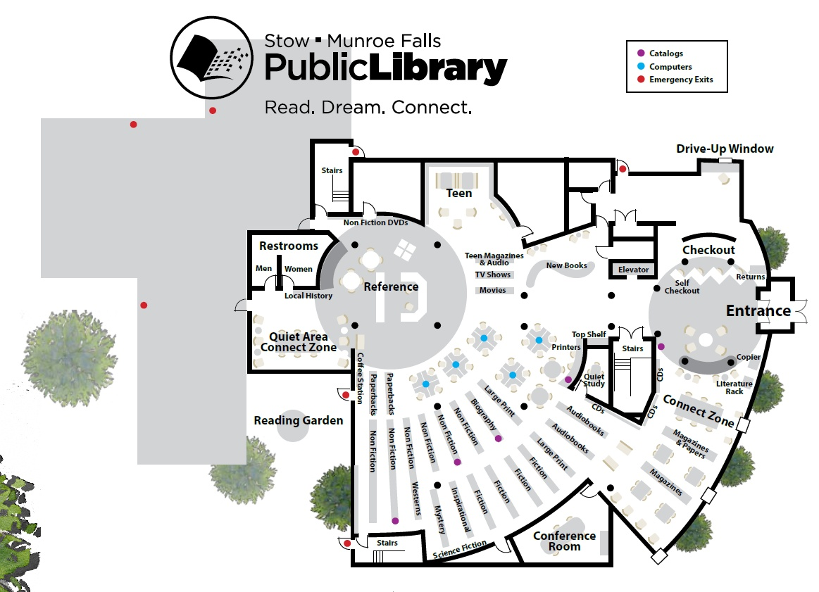 Home Interior Design Pdf Library Floorplan Stow Munroe Falls Public Library