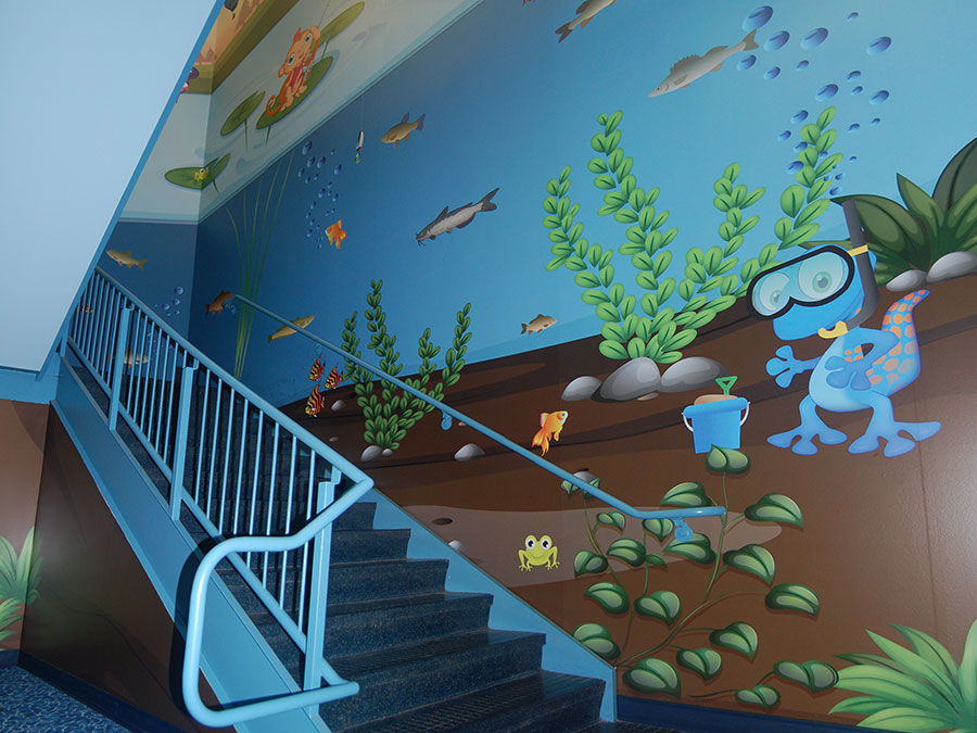 Children's floor mural