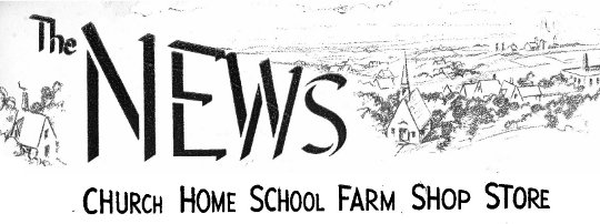 Community Church News Masthead